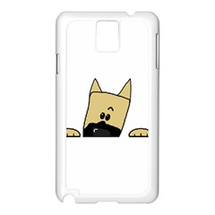 Peeping Fawn Great Dane With Docked Ears Samsung Galaxy Note 3 N9005 Case (White)