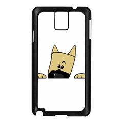Peeping Fawn Great Dane With Docked Ears Samsung Galaxy Note 3 N9005 Case (Black)