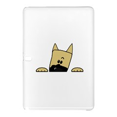 Peeping Fawn Great Dane With Docked Ears Samsung Galaxy Tab Pro 12.2 Hardshell Case