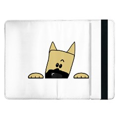 Peeping Fawn Great Dane With Docked Ears Samsung Galaxy Tab Pro 12.2  Flip Case