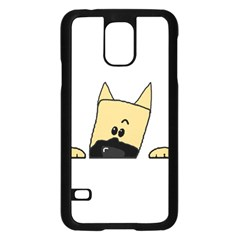 Peeping Fawn Great Dane With Docked Ears Samsung Galaxy S5 Case (Black)