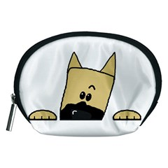Peeping Fawn Great Dane With Docked Ears Accessory Pouches (Medium)