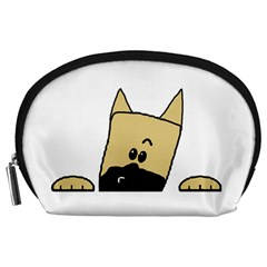 Peeping Fawn Great Dane With Docked Ears Accessory Pouches (Large)