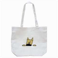Peeping Fawn Great Dane With Docked Ears Tote Bag (White)