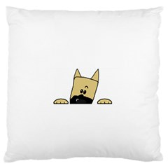 Peeping Fawn Great Dane With Docked Ears Standard Flano Cushion Cases (Two Sides)