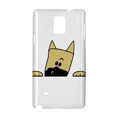 Peeping Fawn Great Dane With Docked Ears Samsung Galaxy Note 4 Hardshell Case