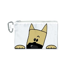 Peeping Fawn Great Dane With Docked Ears Canvas Cosmetic Bag (S)