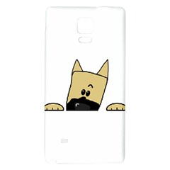 Peeping Fawn Great Dane With Docked Ears Galaxy Note 4 Back Case