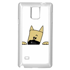 Peeping Fawn Great Dane With Docked Ears Samsung Galaxy Note 4 Case (White)