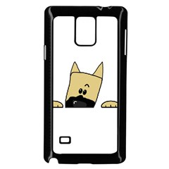 Peeping Fawn Great Dane With Docked Ears Samsung Galaxy Note 4 Case (black)