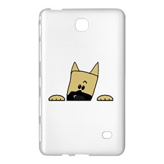 Peeping Fawn Great Dane With Docked Ears Samsung Galaxy Tab 4 (7 ) Hardshell Case