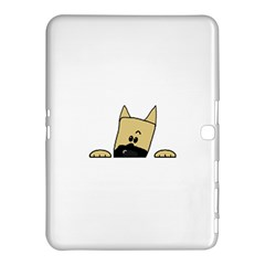 Peeping Fawn Great Dane With Docked Ears Samsung Galaxy Tab 4 (10.1 ) Hardshell Case