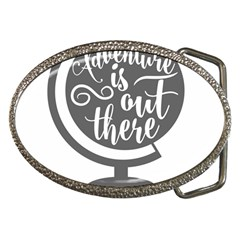 Adventure Is Out There Belt Buckles