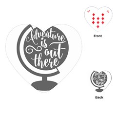 Adventure Is Out There Playing Cards (Heart)