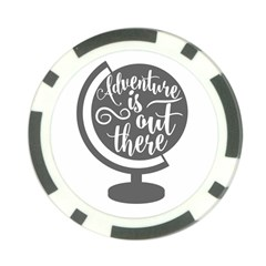 Adventure Is Out There Poker Chip Card Guards