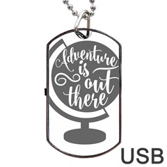 Adventure Is Out There Dog Tag USB Flash (Two Sides)