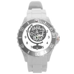 Adventure Is Out There Round Plastic Sport Watch (L)