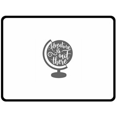 Adventure Is Out There Double Sided Fleece Blanket (Large)