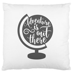 Adventure Is Out There Large Flano Cushion Cases (One Side)