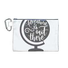 Adventure Is Out There Canvas Cosmetic Bag (M)
