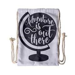 Adventure Is Out There Drawstring Bag (small)