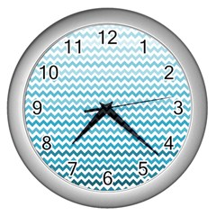Perfectchevron Wall Clocks (Silver)