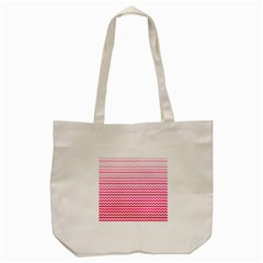 Pink Gradient Chevron Tote Bag (Cream)
