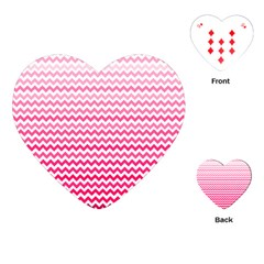 Pink Gradient Chevron Playing Cards (heart)