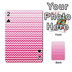 Pink Gradient Chevron Playing Cards 54 Designs