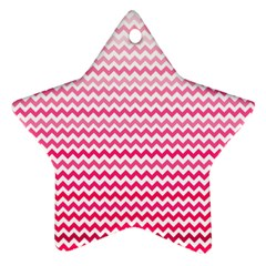 Pink Gradient Chevron Star Ornament (Two Sides)