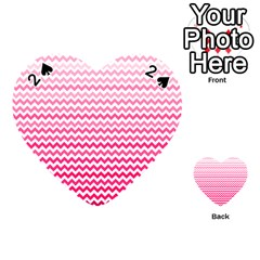 Pink Gradient Chevron Playing Cards 54 (heart)