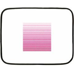 Pink Gradient Chevron Fleece Blanket (Mini)