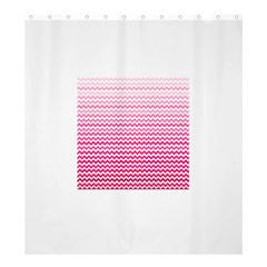 Pink Gradient Chevron Shower Curtain 66  x 72  (Large)