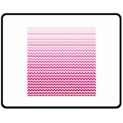 Pink Gradient Chevron Fleece Blanket (Medium)