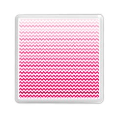 Pink Gradient Chevron Memory Card Reader (square)