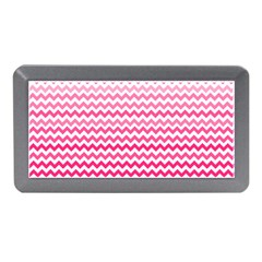 Pink Gradient Chevron Memory Card Reader (mini)