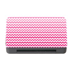Pink Gradient Chevron Memory Card Reader with CF