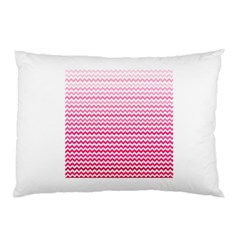 Pink Gradient Chevron Pillow Cases (Two Sides)