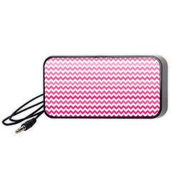 Pink Gradient Chevron Portable Speaker (Black)