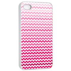 Pink Gradient Chevron Apple iPhone 4/4s Seamless Case (White)