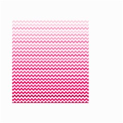 Pink Gradient Chevron Small Garden Flag (Two Sides)