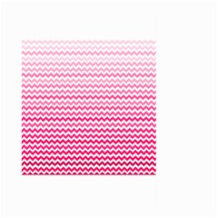 Pink Gradient Chevron Large Garden Flag (Two Sides)