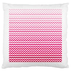 Pink Gradient Chevron Large Cushion Cases (One Side)