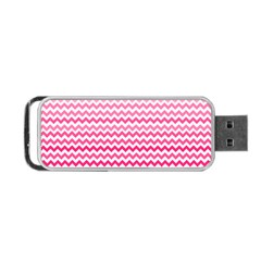 Pink Gradient Chevron Portable USB Flash (Two Sides)