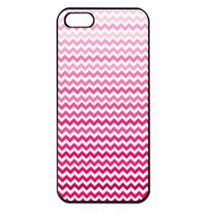 Pink Gradient Chevron Apple iPhone 5 Seamless Case (Black)