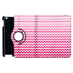 Pink Gradient Chevron Apple iPad 3/4 Flip 360 Case