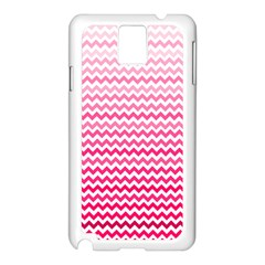 Pink Gradient Chevron Samsung Galaxy Note 3 N9005 Case (White)