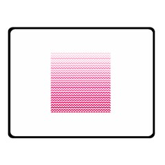 Pink Gradient Chevron Double Sided Fleece Blanket (Small)