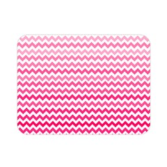 Pink Gradient Chevron Double Sided Flano Blanket (Mini)