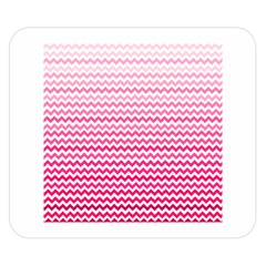 Pink Gradient Chevron Double Sided Flano Blanket (Small)